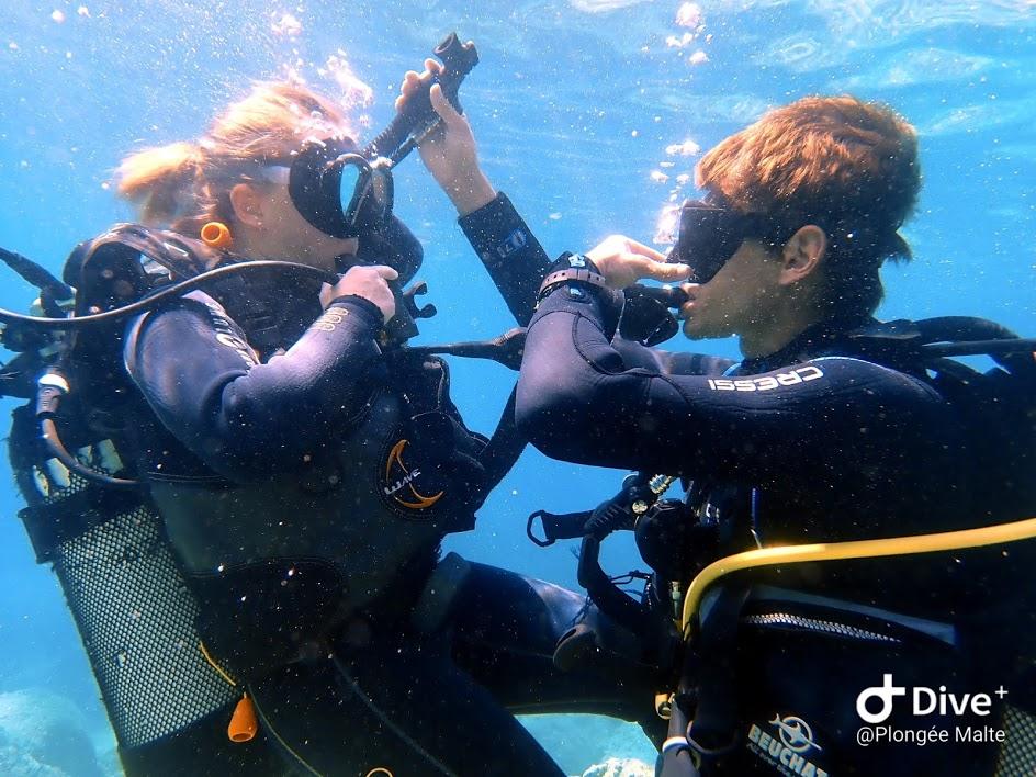 Apprendre à Plonger avec plongée Malte