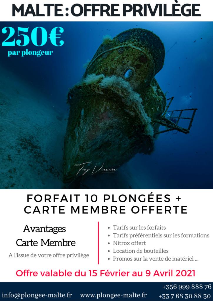 Promo plongées Malte